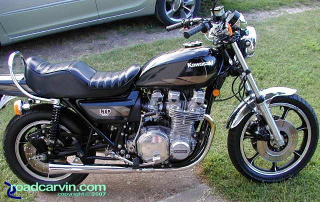 C.T.'s Dark Green 1979 Kawasaki KZ1000 LTD | Roadcarvin