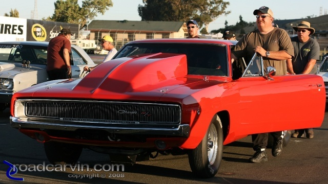 1968 Dodge Charger in line to