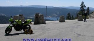 Highway 88 Scenic Vista: Eric stretches his legs