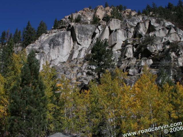 Rocky mountainside near Woodfords