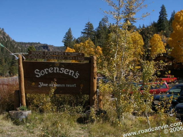 Sorensen's Resort - Sign