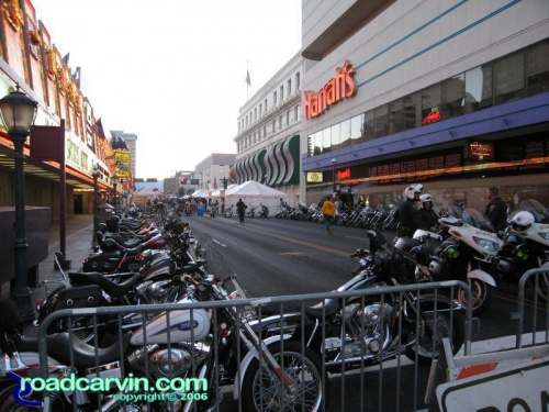 Bike parking near Harrah's: One of the bike parking areas downtown.