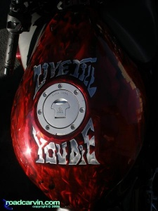 Sweet red paint on a CBR - tank art
