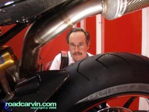 Admiring Ducati craftsmanship