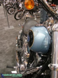 Beautiful Blue Harley-Davidson FXDL Dyna Low Rider - long shot