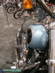 Beautiful Blue Harley-Davidson FXDL Dyna Low Rider - long shot