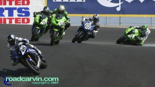2007 AMA Supersport - Championship on the Line: With the AMA Supersport Championship on the line the racing was intense.