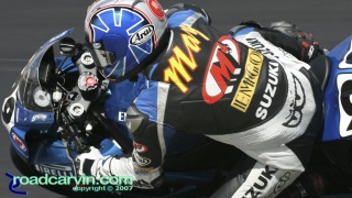 2007 AMA Supersport - Geoff May T9: Geoff May was looking good in the AMA Supersport race on his M4 EMGO Suzuki.