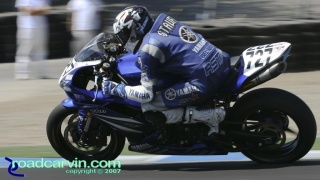 2007 AMA Superstock - Jamie Stauffer T11: Jamie Stauffer rode his Superstock Yamaha YZF-R1 to a 4th place finish just ahead of Geoff May.