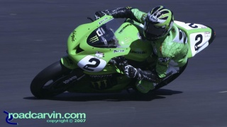 2007 Corona AMA Superbike Championship - Jamie Hacking - Monster Kawasaki: Jamie Hacking's Monster Kawasaki.