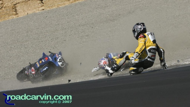 2007 Corona AMA Superbike Championship - Peris - May Crash