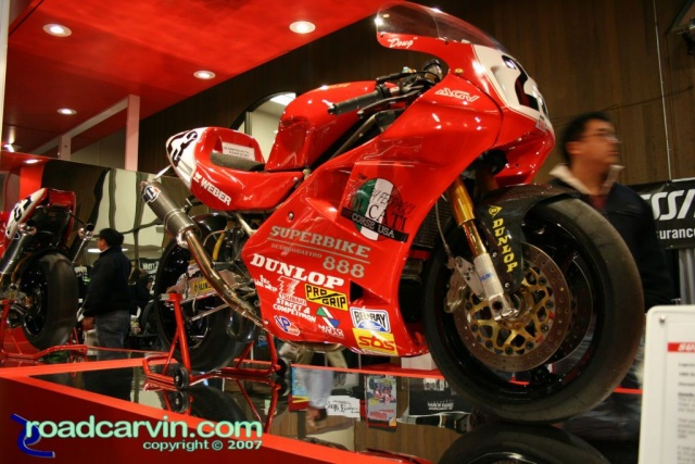 2007 Cycle World IMS Doug Polen Superbike on display