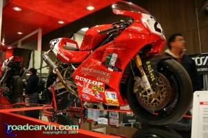Doug Polen Superbike: Doug Polen's Ducati Superbike was on display.