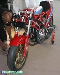2007 Ducati Superbike Concorso - 1983 TT1 Working on the Bike