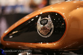 105th Anniversary Sportster Tank: Lovely copper and black color scheme
