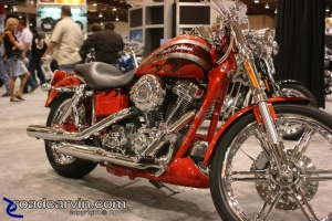 Friday Afternoon Photo - Orange Harley-Davidson @ 2007 IMS San Mateo