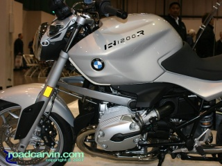 2008 BMW R1200R Side: With Cristal Grey Metallic paint.