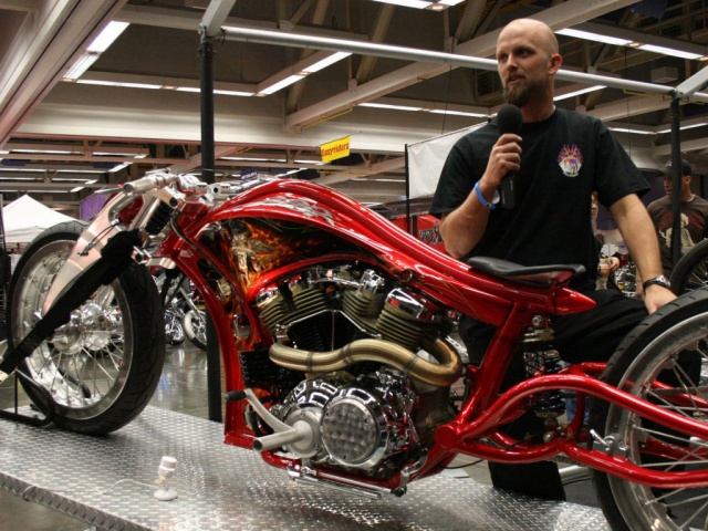 Jaxon Fyffe and his Speedliner at the 2008 Easyriders V-Twin Show in Sacramento