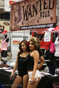 Wanted Wear gals at the 2008 Easyriders Show in Sacramento