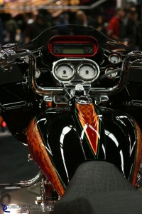 Paul Aliotti 2006 Road Glide at 2008 Easyriders Show in Sacramento - Gas Tank and Gauges