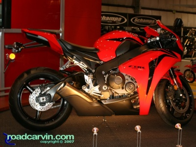 2008 Honda CBR1000RR: The all new 2008 CBR1000RR with a new chassis, new engine and MotoGP inspired styling and exhaust.