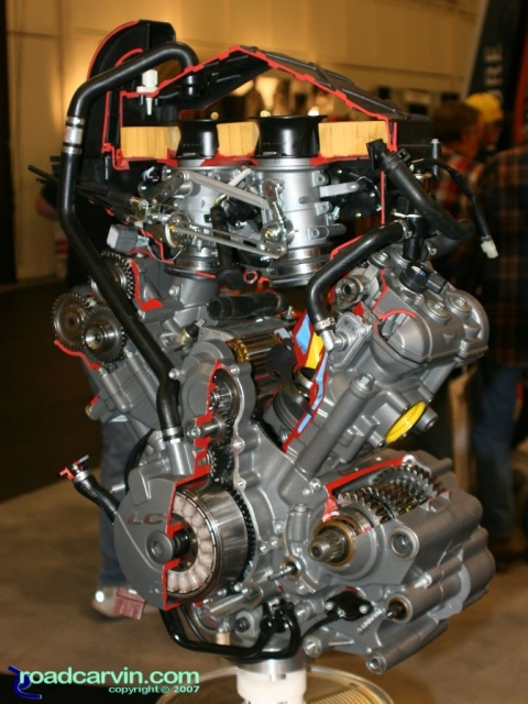 2007 Cycle World IMS - 2008 KTM LC8 Engine Cutaway