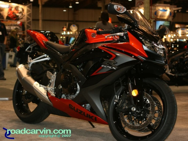 2007 Cycle World IMS - 2008 Suzuki GSX-R750 Orange/Black Side