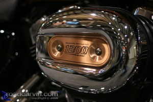 2008 105th Anniversary Sportster Bronze Air Cleaner Closeup