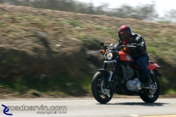 2009 Harley-Davidson XR1200 at speed on Highway 26 (II)