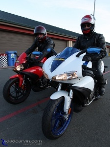 2009 1125CR (left) & 1125R (right): Mike and Dwight ready to hit the track.