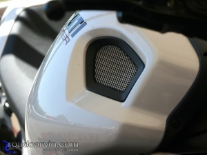 2009 Ducati Monster 1100S - Tank Grill Detail
