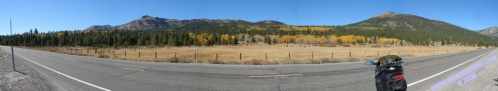 Blue Lakes area: hills painted gold