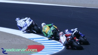 2007 Red Bull U.S. Grand Prix - AMA Superbike - Tight Racing: There was tight racing at the front in the AMA Superbike race.