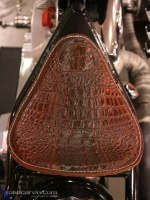 Alligator Seat: Many bikes have custom seats, this alligator seat was outstanding.