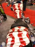 American Flag: The attention to detail of the paint job on this custom chopper was impressive.