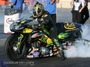 2008 Infineon NHRA - Angelle Sampey - Friday Burnout