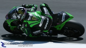 Kawasaki poised for a quick exit from MotoGP?: Anthony West with team Kawasaki at the 2008 Laguna Seca MotoGP.  Is it the end of the road?