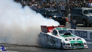 2008 Infineon NHRA - Ashley Force - Burnout