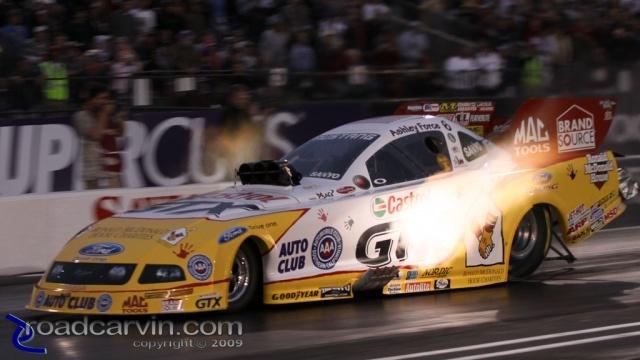 2009 Fram Autolite NHRA Nationals - Ashley Force Hood - Flame Thrower
