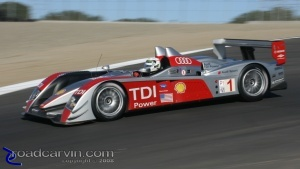 Audi TDI - P1: Audi TDI P1 car in turn 8 at Laguna Seca.