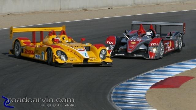2008 Monterey Sports Car Championships - Audi Punts Porsche