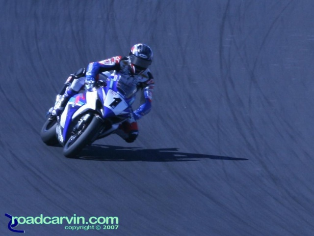 2007 Red Bull U.S. Grand Prix - AMA Superbike - Ben Spies Turn 2