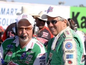 2009 Fram Autolite NHRA Nationals - Bernie Fedderly and John Force