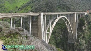 Bixby Bridge: Bixby Bridge is located 18 miles south of Carmel on Highway 1 and was completed in 1932.