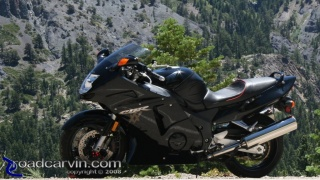 CBR1100XX Blackbird: The slate grey mountain provided a perfect backdrop to photograph my Honda Blackbird.