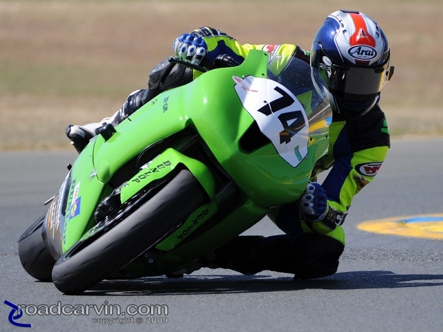2009 Infineon AMA - SuperSport - Bryce Prince Turn 9A