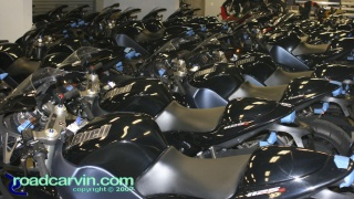Yeah, I could sleep here...: 2008 Buell 1125R prototype demo bikes in the garage