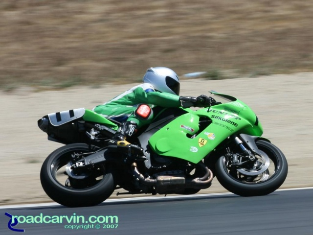California Superbike School - Student in Turn 5
