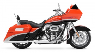 2009 Harley-Davidson - FLTRSE CVO Road Glide: 2009 Harley-Davidson FLTRSE CVO Road Glide in Electric Orange and Vivid Black.
