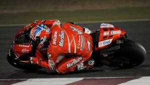 2009 MotoGP Qatar Test - Casey Stoner - Lean Angle